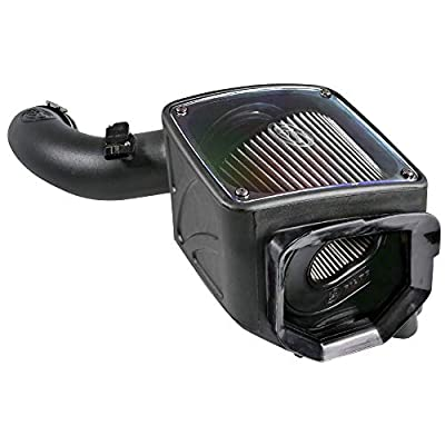 S&B Filters 75-5102D Cold Air Intake For 2004-2005 Chevy/GMC Duramax LLY 6.6L (Dry Extendable Filter): Automotive