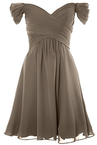 Dress Wedding Off Gown Short Shoulder Cocktail Pewter 2018 Women Formal Party MACloth HIw4ZZ