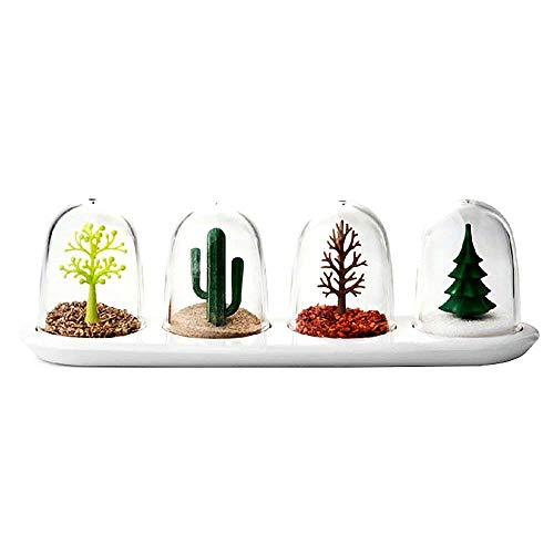 Four Seasons Plant Animal Spice Jar Set Salt & Pepper Shaker Set, Creative Kitchen Salt Pepper Condiment Seasoning Shaker Seasoning Jar Condiment Storage Container Cruet Spices Jar Storage Bottle Box