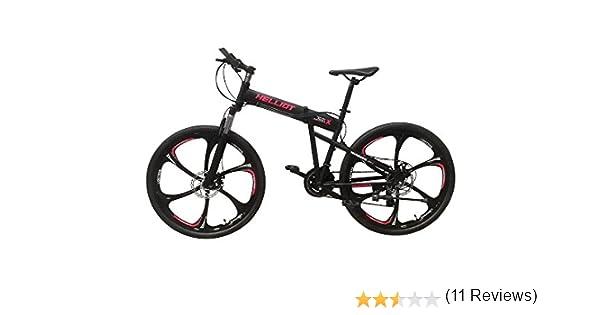 Helliot Bikes Hummer 01 Bicicleta de montaña Plegable, Adultos Unisex, Negra, M-L: Amazon.es: Deportes y aire libre