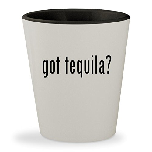 got tequila? - White Outer & Black Inner Ceramic 1.5oz Shot Glass (El Jimador Tequila Reposado)