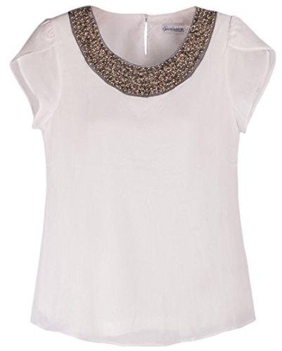 Quality Embellished Collar Shoulder T Shirts product image