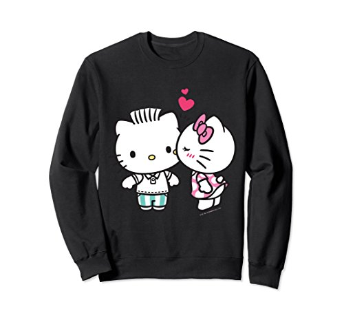 Unisex Hello Kitty and Dear Daniel Valentine Sweater Small Black (For Adults Clothes Hello Kitty)