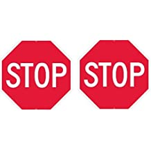 """NMC TM81H Traffic Sign,Stop, 30"""" Width x 30"""" Height, Aluminum, Red On White"""