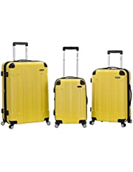 Rockland 3 PC Sonic ABS Upright Set, Yellow, One Size