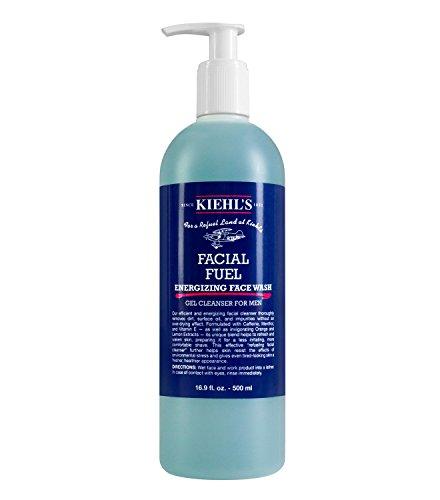 Kiehls Ultra Facial Cleanser (Facial Fuel Energizing Face Wash Gel Cleanser for Men 16.9 oz / 500ml)