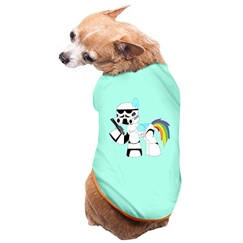[Aip-Yep Cool Rainbow Stormtrooper Puppies And Dog Pets Costumes SkyBlue Size M] (My Little Pony Costume For Dogs)