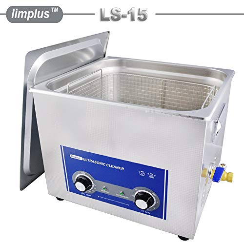 Limplus 15liter 360W Commercial Ultrasonic Cleaner with Basket and Lid Injection Nozzles Instruments Fuel Injector Oil Remove 40kHZ Timer - Specifications Fuel Injector