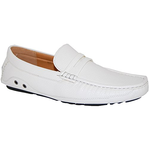 KRAZY SHOE ARTISTS White Penny Loafer Slip On 4 Men, Size 13 by KRAZY SHOE ARTISTS