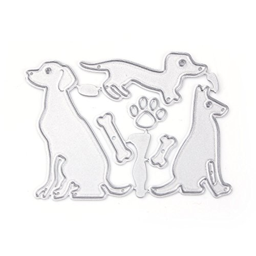 Fyore Metal Cutting Dies Stencil Template Mould for DIY Scrapbooking Album Paper Card Embossing Craft Decoration (3 Pcs Dog)
