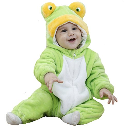 Tonwhar Unisex-baby Flannel Romper Frog Onesie Outfits (70(Height:22