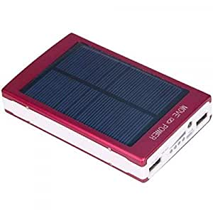 Solar Panel Power Bank Dual USB External Battery Charger for HTC,Blue ht.lk