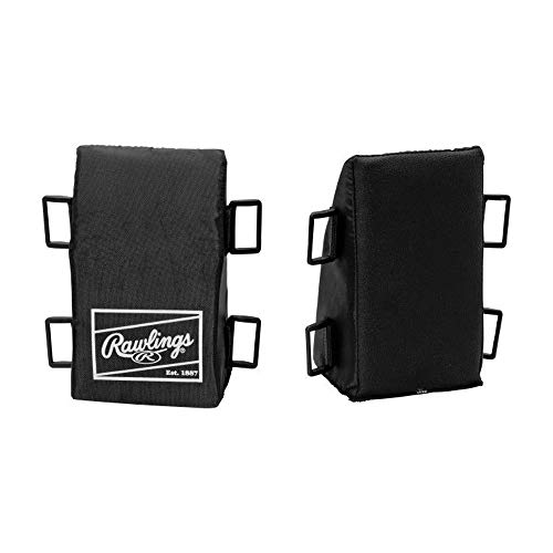 Baseball Catchers Knee Support - Rawlings RKR Knee Reliever foam wedge Black