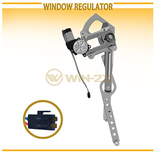 WIN-2X New 1pc Front Passenger (Right) Side Power Window Regulator & Motor Assembly Fit 88-02 Chevy/GMC C10 C/K Truck 92-99 Suburban 92-94 Blazer 92-99 Tahoe/Yukon 00 5.7L V8 99-00 Cadillac Escalade 91 Chevy Suburban Window