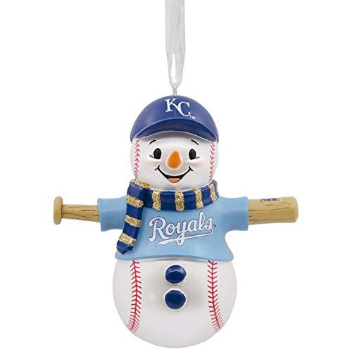 Mlb Baseball Snowman Ornament - Hallmark MLB Kansas City Royals Baseball Snowman Ornament Sports & Activities,City & State