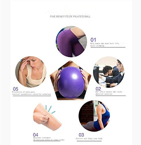 "Wubao 10"" Mini Pilates Yoga Ball PVC Fitness Gym Workout ..."