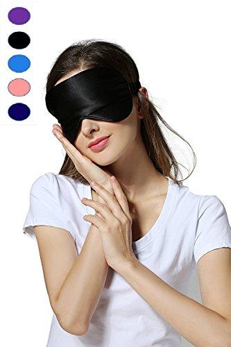 Silk Sleep Mask & Blindfold, Soft Eye Mask with Adjustable Head Strap, Deep Rest Eye Masks for...