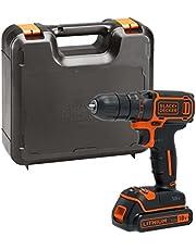 Save on BLACK+DECKER BDCDC18K-GB 18V Drill Driver with Kitbox, 18 V, Black/Orange and more