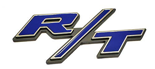 Emzscar 1x R/T RT Side Fender Trunk Hatch Deck Lid Boot Emblem Replacement for Badge Sticker fit Dodge Challenger Charger Ram 1500 Jeep Grand Cherokee (Blue)