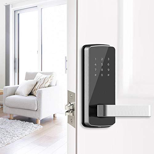 GAOPIN Combination Locks - WiFi Digital Electronic Smart Door Lock App, Smart Home Mobilephone App Intelligent Bluetooth keypad Password Door Lock, Black,3 by GAOPIN (Image #1)