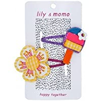 Lily & Momo Pop Life Snap Hair Clip, Gingham Yellow, 2 Count