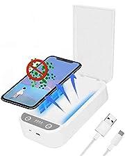 RÁPIDO inteligente UV desinfectante Teléfono portátil celular multifunción desinfectante UV limpiador desinfectante caja de aromaterapia for Máscaras Iphones Android Celular reloj de la joyería