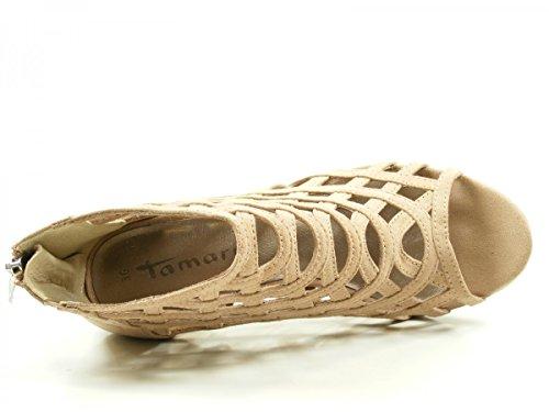 Tamaris 1-28388-38 Sandalias para mujer Beige