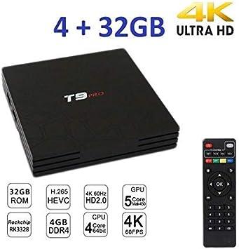 TV Box T9 Pro Mini Android 7.1.2 Smart TV 4GB RAM 32 GB ROM 4 K IP GPU 5core WiFi cw323: Amazon.es: Electrónica