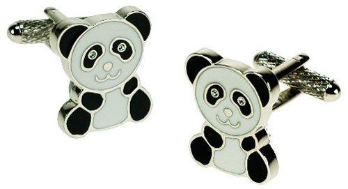 Onyx Art Metallic Panda Novelty Cufflink's in a Gift Box Plus Premier Life Pen - CK502 ()