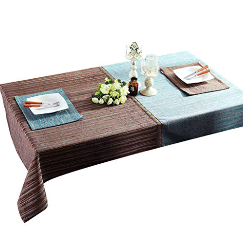B 130×180cm courirWEI Nappe linge de table de décoration tissu nappe simple (Couleur   B, taille   130×180cm)