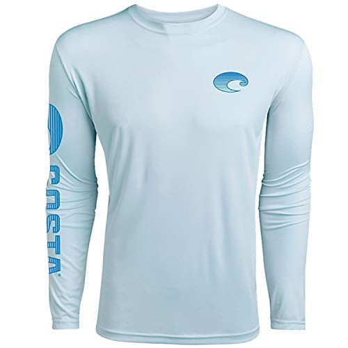 Technical Life - Costa Del Mar Technical Crew Performance Long Sleeve, Artic Blue, Medium