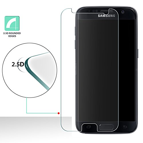 [2-Pack] Galaxy S8 Active Tempered Glass, Anbel [Anti Scratch][Anti-Fingerprint] 0.33mm 2.5D Edge 9H Tempered Glass Ultra-Clear Screen Protector for Samsung Galaxy S8 Active