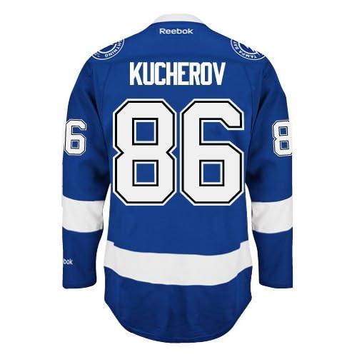 ca013911 Nikita Kucherov Tampa Bay Lightning Reebok Premier Home Jersey NHL ...