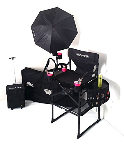 PRESALE #65TTR TuscanyPro Tall Makeup Chair DELUXE COMBO w/ Light, Makeup Cart and Carry Bag (29'' Seat Height) by Tuscany PRO