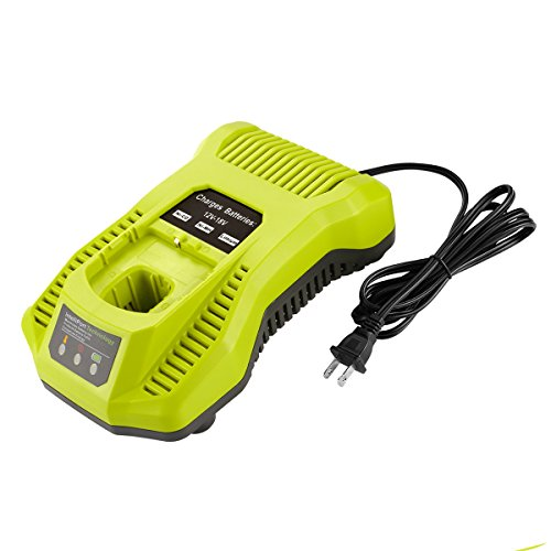 12 Volt Nicad Battery - YABELLE P117 Dual Chemistry IntelliPort Charger for All Ryobi 12V-18V ONE+ Lithium Battery & NiCad NIMH Battery US Plug (Battery Not Included, Charger Only)