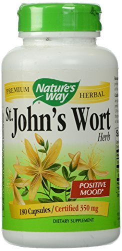Nature's Way St. John's Wort Capsules, 350 mg 180 Count by Nature's Way (Wort 180 Capsule)