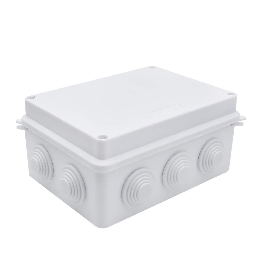 200mmx155mmx80mm Dustproof ABS Plastic Universal Electrical Project Enclosure 7.9x 6.1 x 3.1 DIY Case Enclosure/ IP65 Waterproof Junction Box