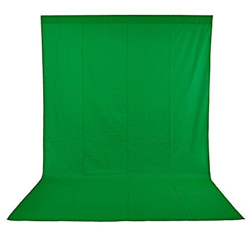 Neewer 6x9 feet/1.8x2.8 Meters Photo Studio 100 Percent Pure Muslin Collapsible Backdrop Background for Photography, Video and Television (Background Only) - Green