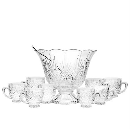Godinger 25582 Dublin 10 Pieces Punch Set (Dublin Crystal Punch Bowl compare prices)