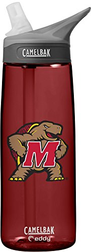 NCAA Maryland Terrapins Unisex CamelBak Eddy .75L Collegiate Water Bottle, Cardinal