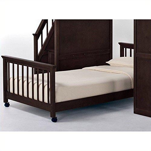 NE Kids School House Lower Stair Loft Bed in Chocolate - Full