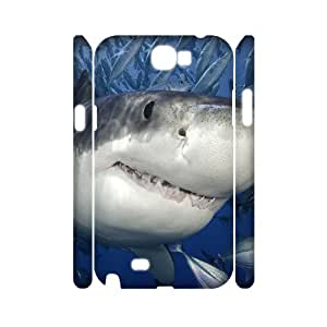 ZHANG Unique Diy Samsung Galaxy Note 2 N7100 3D Phone Cover Shark Hard Case