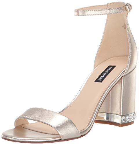 Nine West Women's wnABIGAIL Heeled Sandal, Gold, 8 M US (Nine West Gold Shoes)