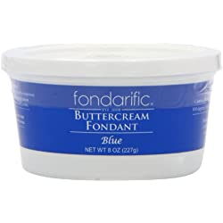 Fondarific Buttercream Fondant, Blue, 8 Ounce