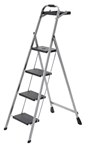 Skinny Mini 4 Step Steel Step Stool With Project Tray