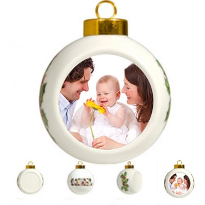 Custom Ball Ornaments Photo Christmass (Custom Gifts And More compare prices)