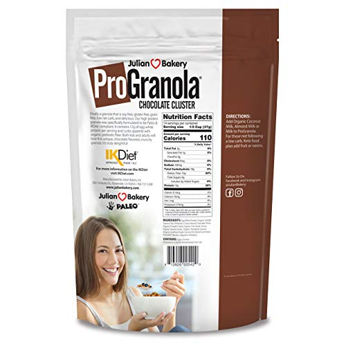 ProGranola Cereal | Chocolate | 13g Protein | Paleo | 3 Net Carbs | Gluten-Free | Grain-Free | 2 Pack by Julian Bakery (Image #1)