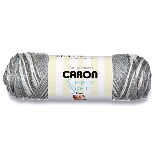 Caron International Caron Simply Soft, 5 Oz, Snow Camo