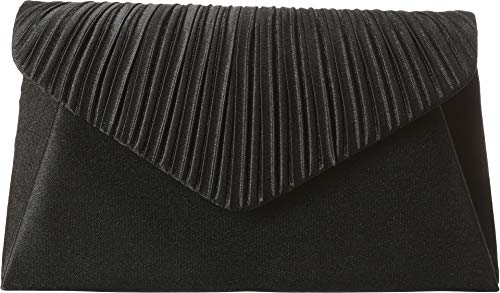 Jessica McClintock Women's Satin V Crimped Flap Black One - Pleated Vera Dress Wang