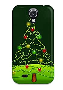 Hot Tpu Cover Case For Galaxy/ S4 Case Cover Skin - Christmas Tree